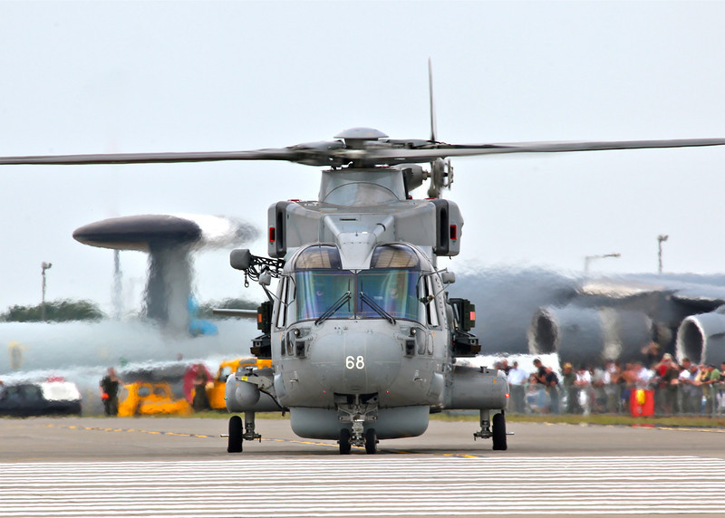ZH852 EHI EH-101 Merlin HM1 (Mk111) (Waddington Airshow 2011)