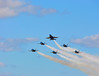 Blue Angel Flight in Spread Formation (Show Finale)