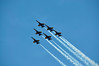 Blue Angel Flight in Arrow Formation