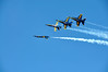 Blue Angel Flight in the Break
