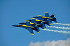 Blue Angel Flight in Tight Echelon Formation