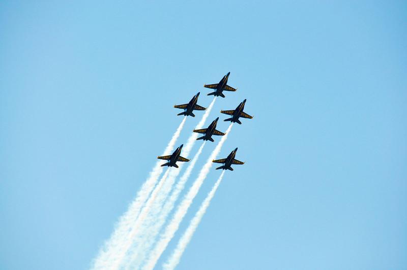 Blue Angel Flight in Diamond plus Two Formation