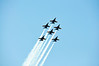Blue Angel Flight in Diamond plus Two Formation