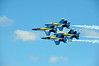 Blue Angel Flight in Diamond Formation