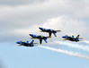 Blue Angel Flight in Two Up - Two Down Formation