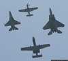 USAF Heritage Flight - P-51 Mustang escorted by an F-16, F-15 and A-10.