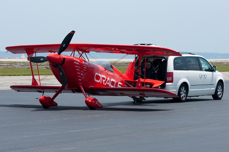 "From the ""believe it or not"" category, transporting planes via minivan is apparently viable."