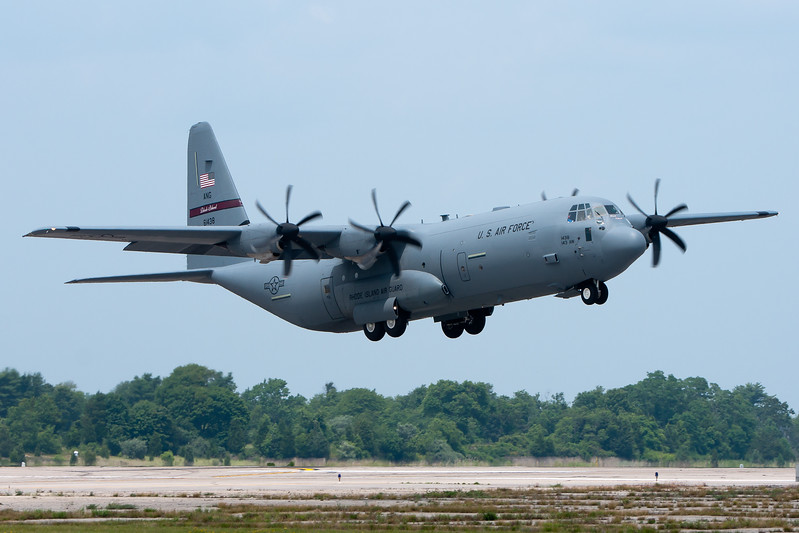 A short field takeoff for the C-130J.