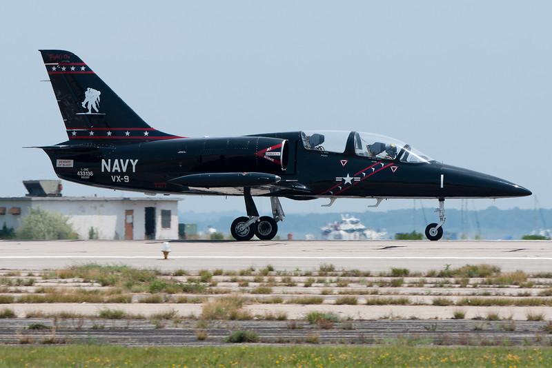 This L-39 Albatross is painted in honor of Navy veterans.
