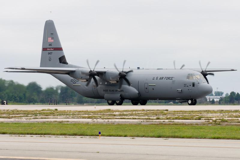 C-130J of RI ANG taking off.