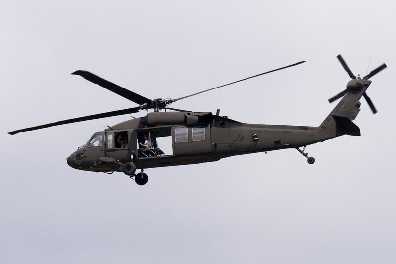 The Blackhawk is preparing their airlift demonstration.