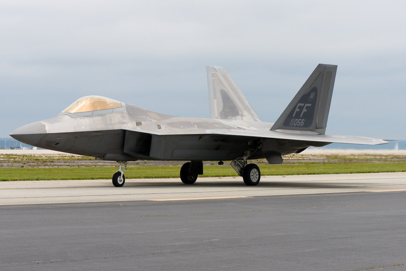Up close and personal with the F-22.