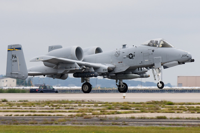 The A-10 takes off for the joint services demonstration.