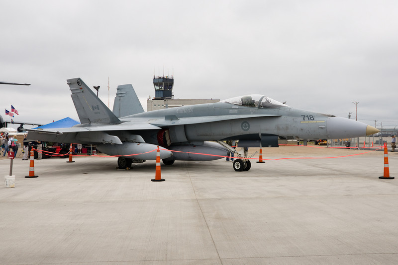 F/A-18 from Canada on static.