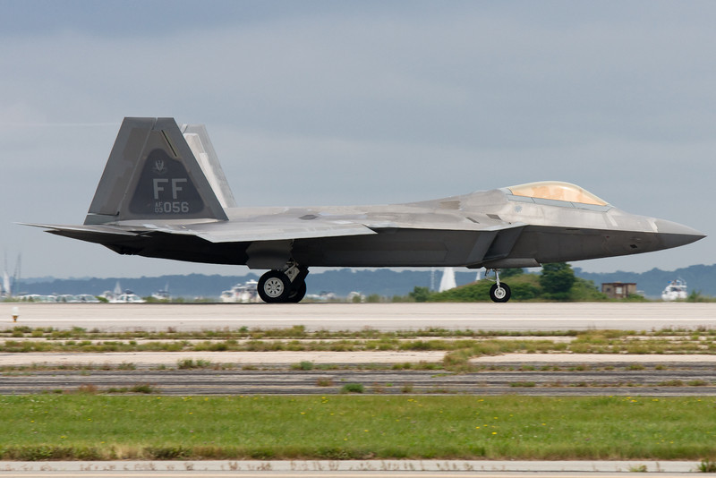 F-22 rolling out.