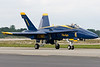 Blue Angel 1 and team leader Greg McWherter taxis by the flightline.