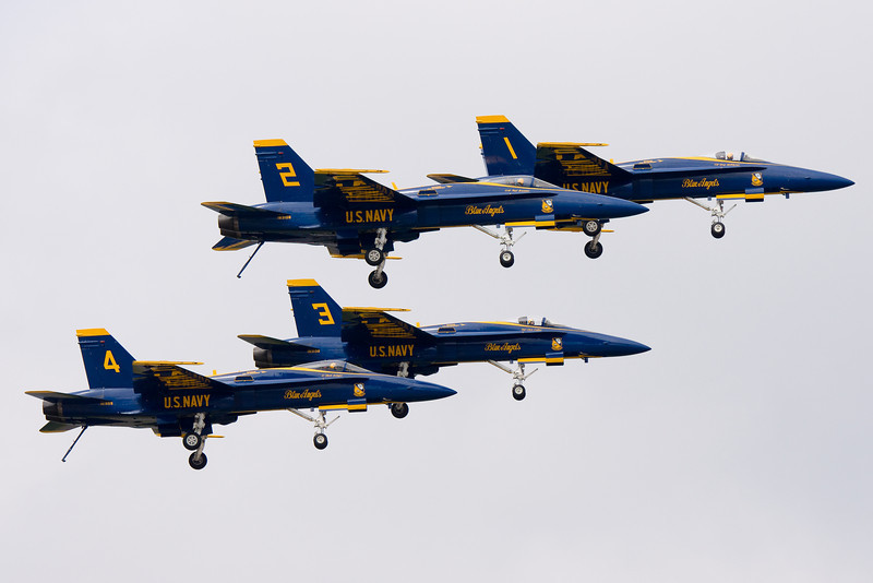 Tailhooks dragging for the Blue Angels.