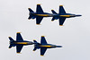 Planform flyby of the Blue Angels.