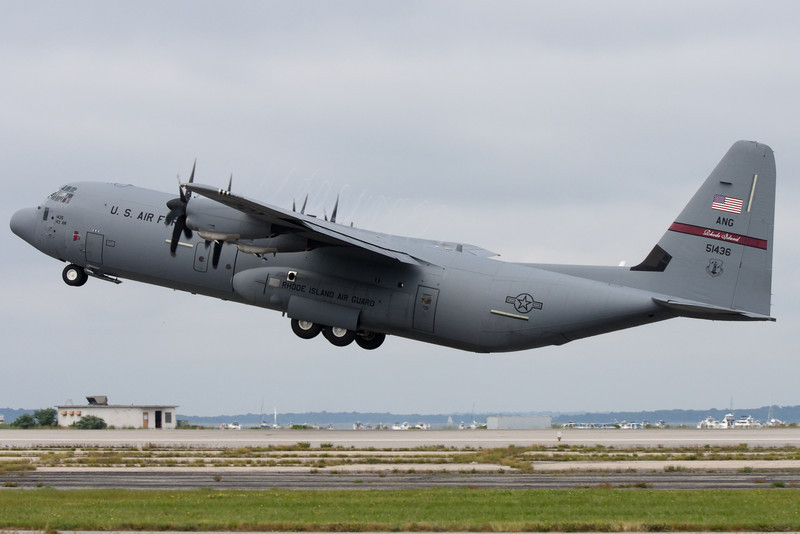 This C-130J is gaining altitude fast to demonstrate its short field performance.