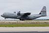 This C-130J is rotating from the runway.