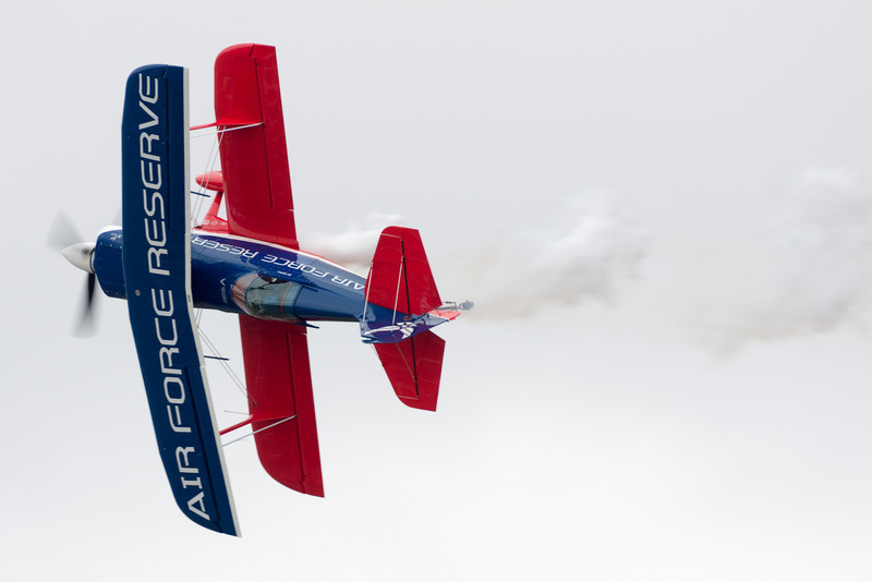 Ed Hamill performs in his biplane.