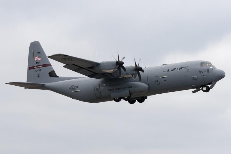 C-130J in flight.