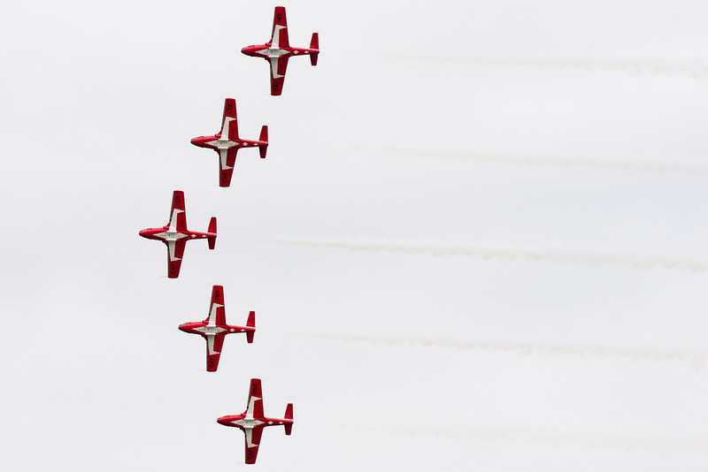 Snowbirds perform another formation.