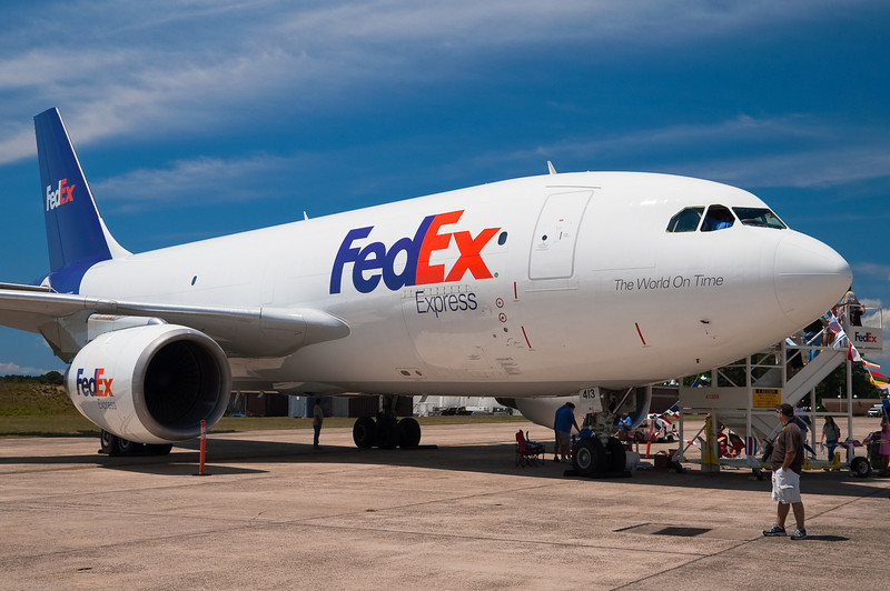 FedEx had an A310 on display, you could walk into the cockpit.