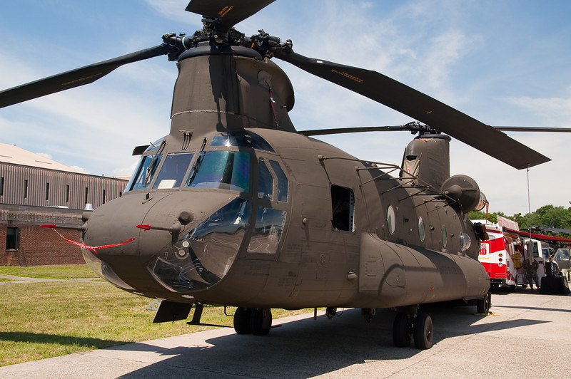 Chinook helicopter from CT Army Guard on display.