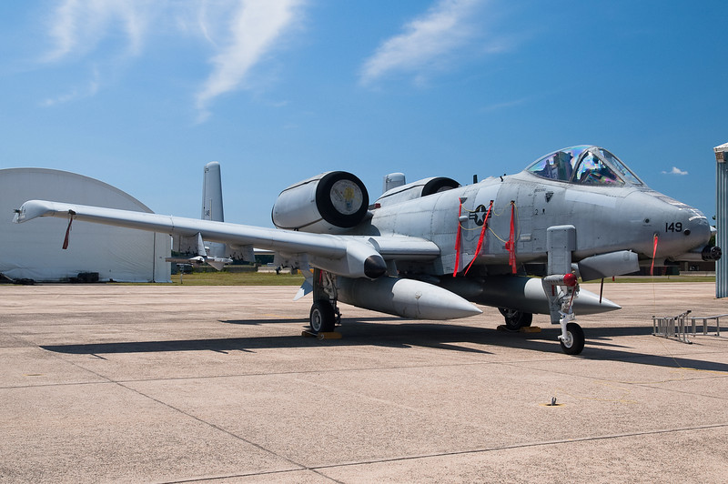 An A-10 parked for static display.