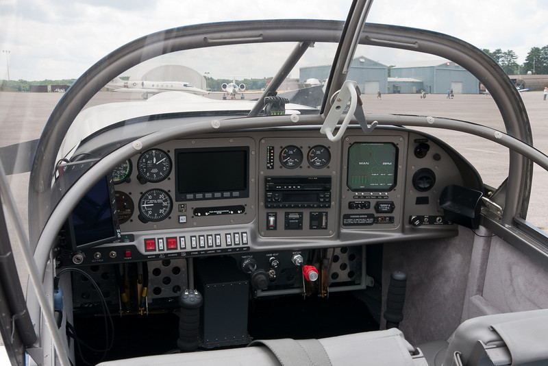 The cockpit of the previous plane.
