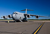 A C-17 quietly sits on the ramp, ready to go.