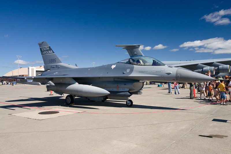 A F-16 Falcon on display from South Carolina.