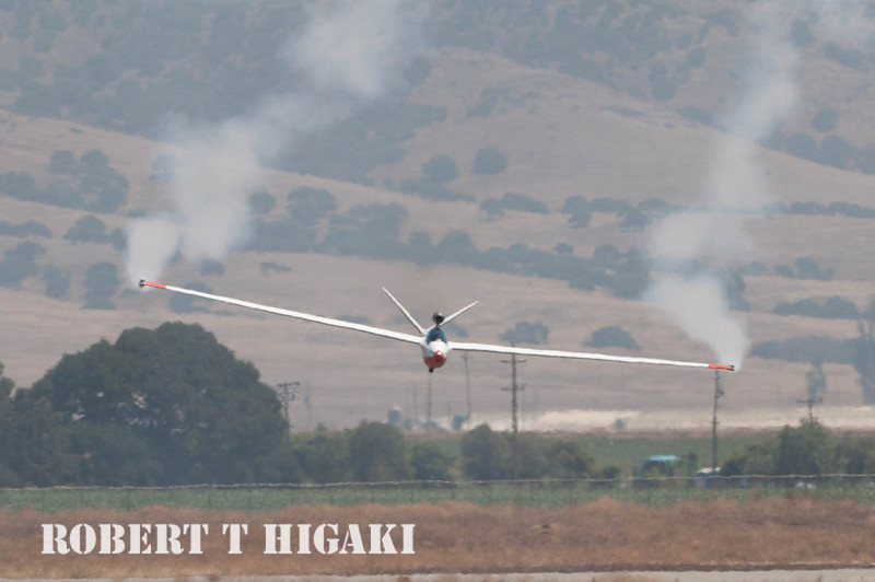 Yes, that is a jet engine on top of the glider.