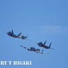 P-51 is totally dwarfed by the modern jet planes.( F-22, F-15 and A-10)