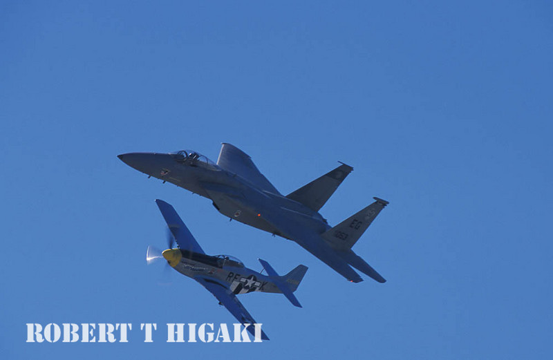 P-51 and F-15