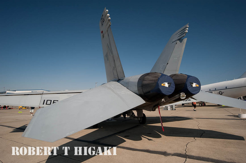 Back end of the F-18 Hornet