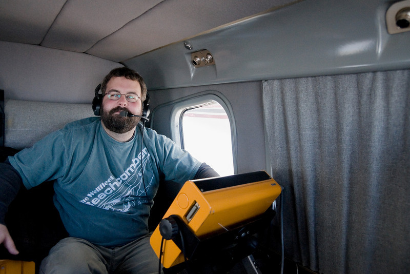My older brother Shaun who is operating the aerial surveying camera.