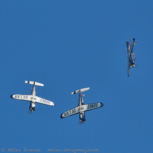 UK's premiere of the Patrouille Cartouche Dore, Socata TB30 Epsilon, French Air Force, at The Jubilee Air Show, Duxford.