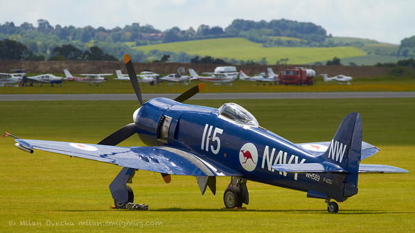 Hawker Sea Fury at Flying Legends, Duxford 2012