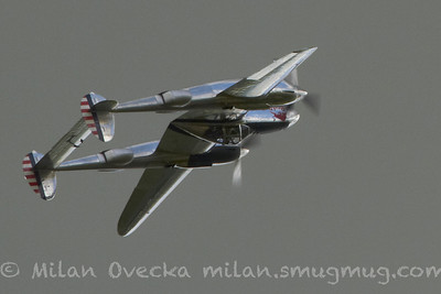 P-38L/F Lightning at Flying Legends, Duxford 2012