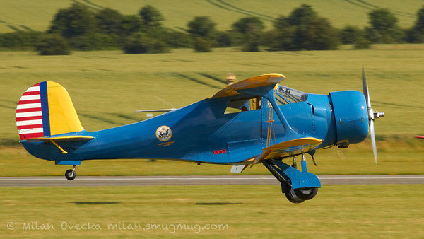 Beechcraft Stagerwing at Flying Legends, Duxford 2012
