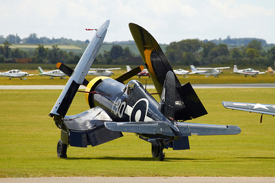 FG-1D Corsair at Flying Legends, Duxford 2012