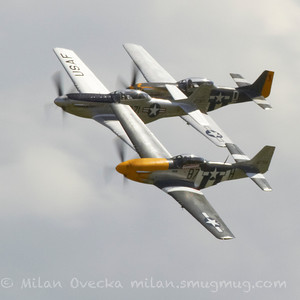 Mustangs at Flying Legends, Duxford 2012