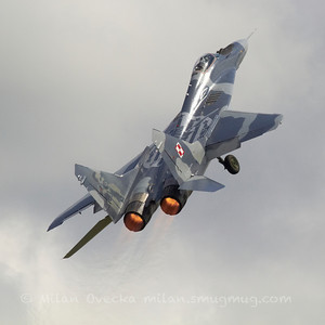 Mig-29A, Fulcrum from 1.elt, Polish Air Force, Minsk Mazowiecki at The Royal International Air Tattoo (RAF Fairford).