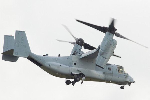 MV-22B Osprey, VMM264 Black Knights, Marine Aircraft Group 26, 2nd Marine Aircraft Wing, United States Marine Corps, at The Royal International Air Tattoo (RAF Fairford)