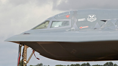"B-2A Spirit ""Spirit of New York"", 393rd Bomb Squadron, 509th Bomb Wing, Whiteman AFB, Missouri at The Royal International Air Tattoo (RAF Fairford)."