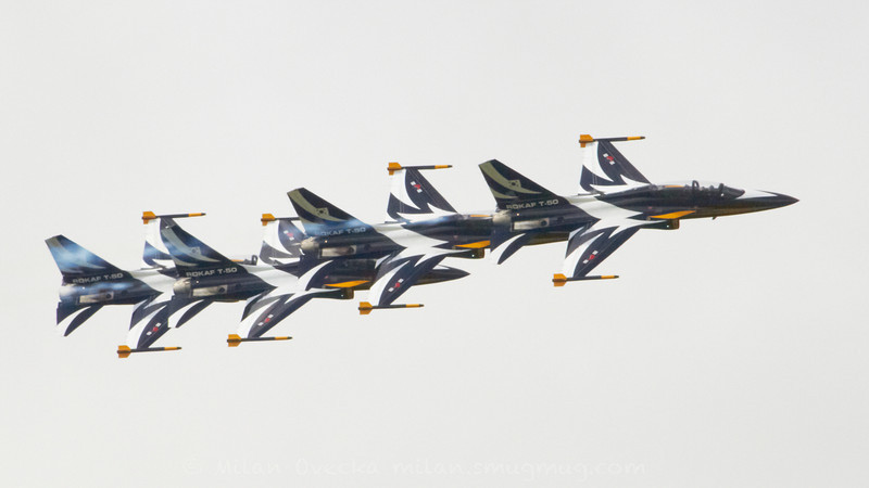 Korean Aerospace Industries T-50B, Republic of Korea Aerobatic team Black Eagles, Wonju