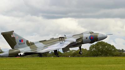 Avro Vulcan B2 operated by Vulcan to the Sky Trust, Doncaster Sheffield Airport at The Royal International Air Tattoo (RAF Fairford).