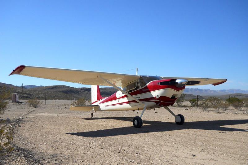 Cessna 180 Skywagon [1955] N727DG<br /> Stillwell's RV Park, Heath Canyon, Texas - November 2011